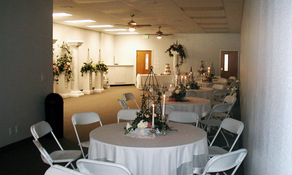 The Dille Event Center Wedding Reception Setup