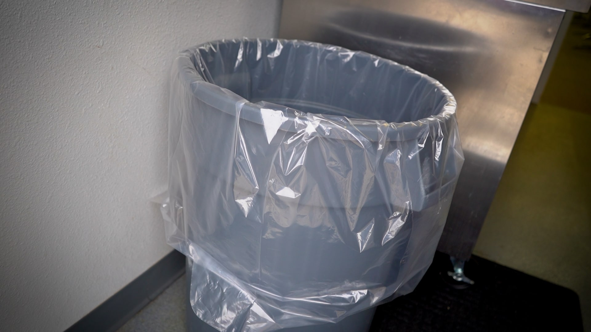 Large Trash Bin in the Kitchen of the Dille Center