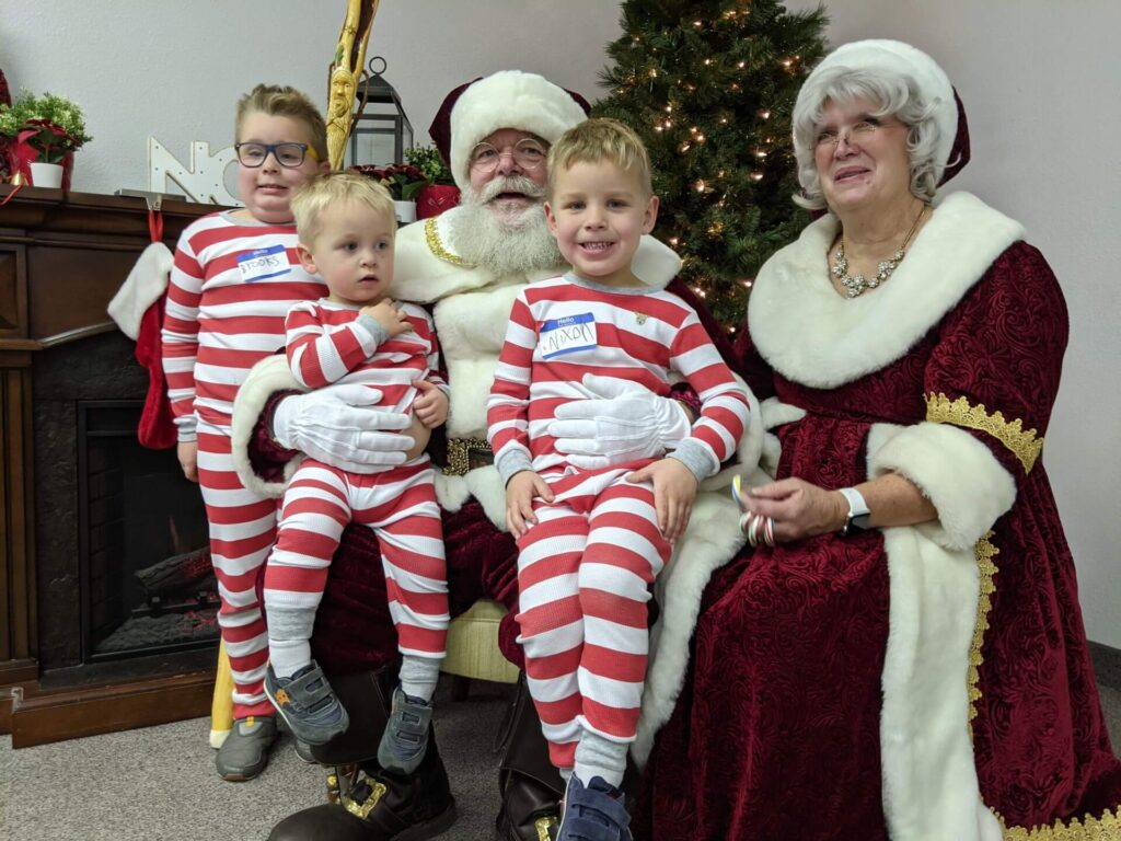 Event in the Nampa, Idaho, Dille Center with Mr. and Mrs. Claus