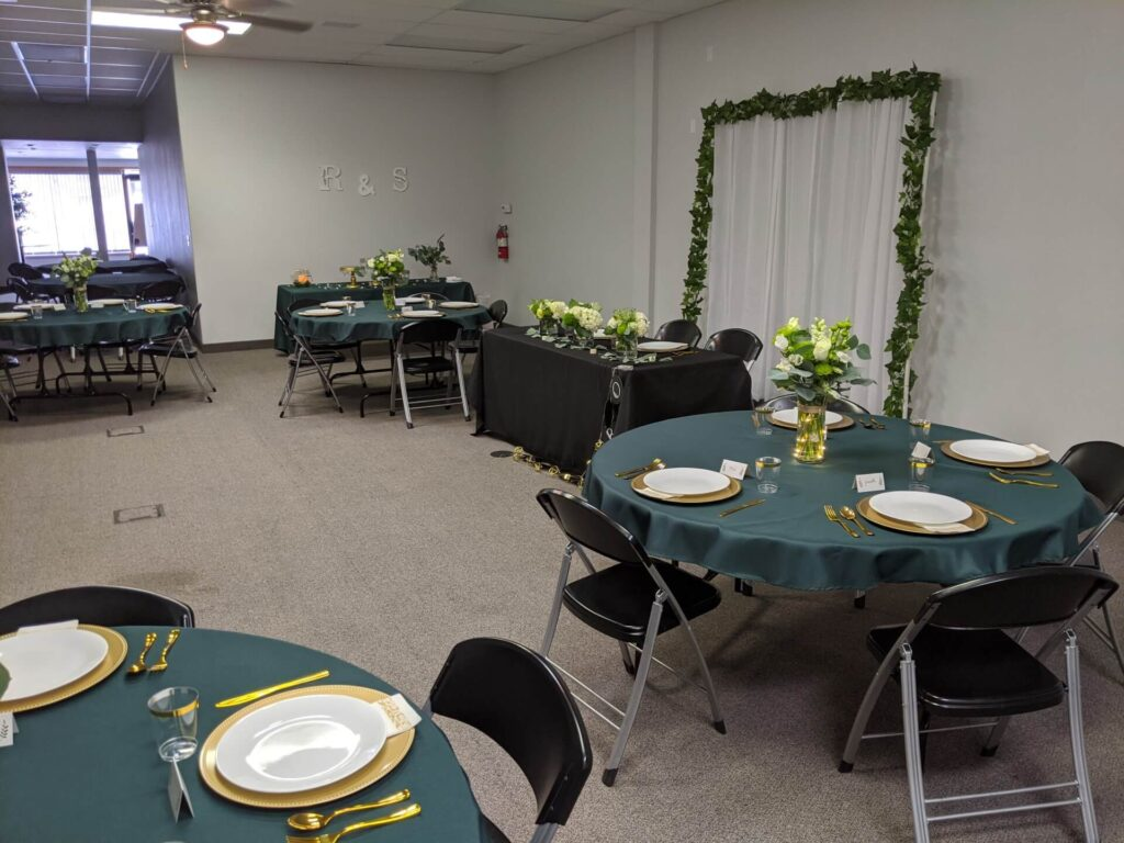Seating Arrangement for a Wedding Reception in Nampa, Idaho on the Event Center