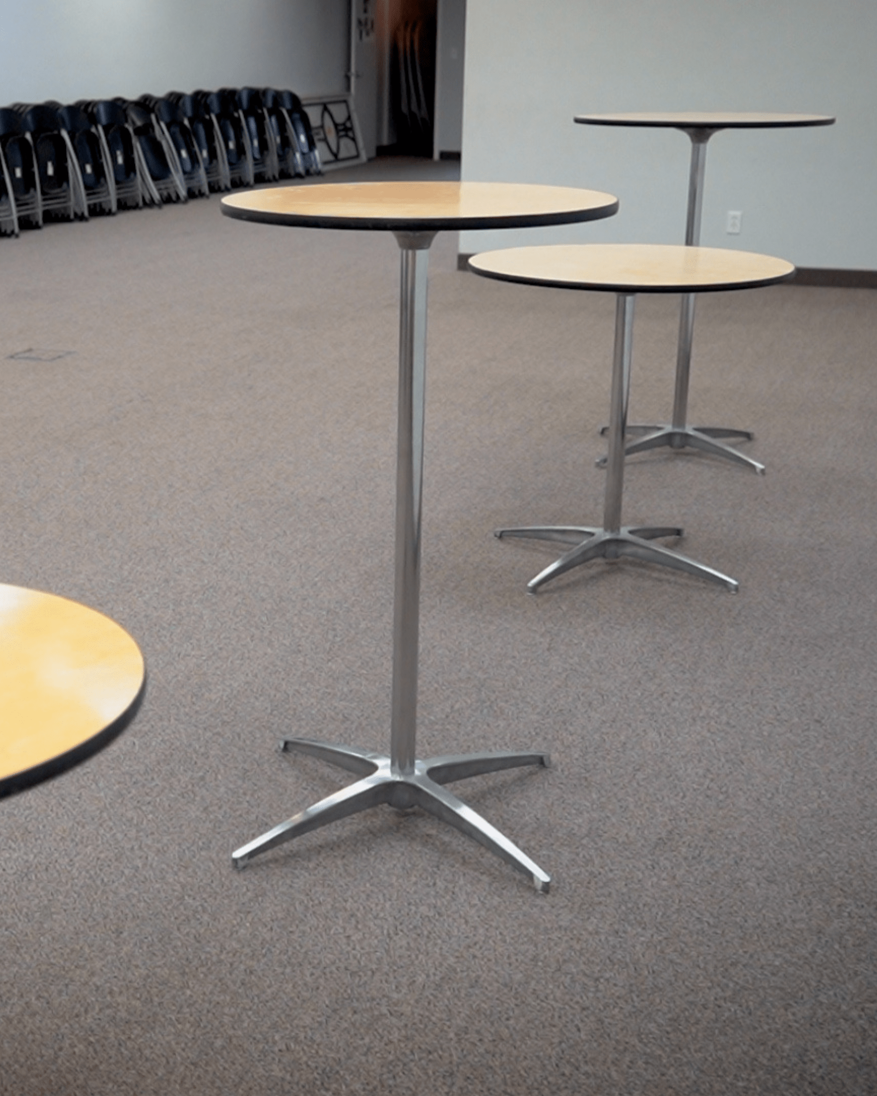 Rental Cocktail Tables for Wedding Receptions