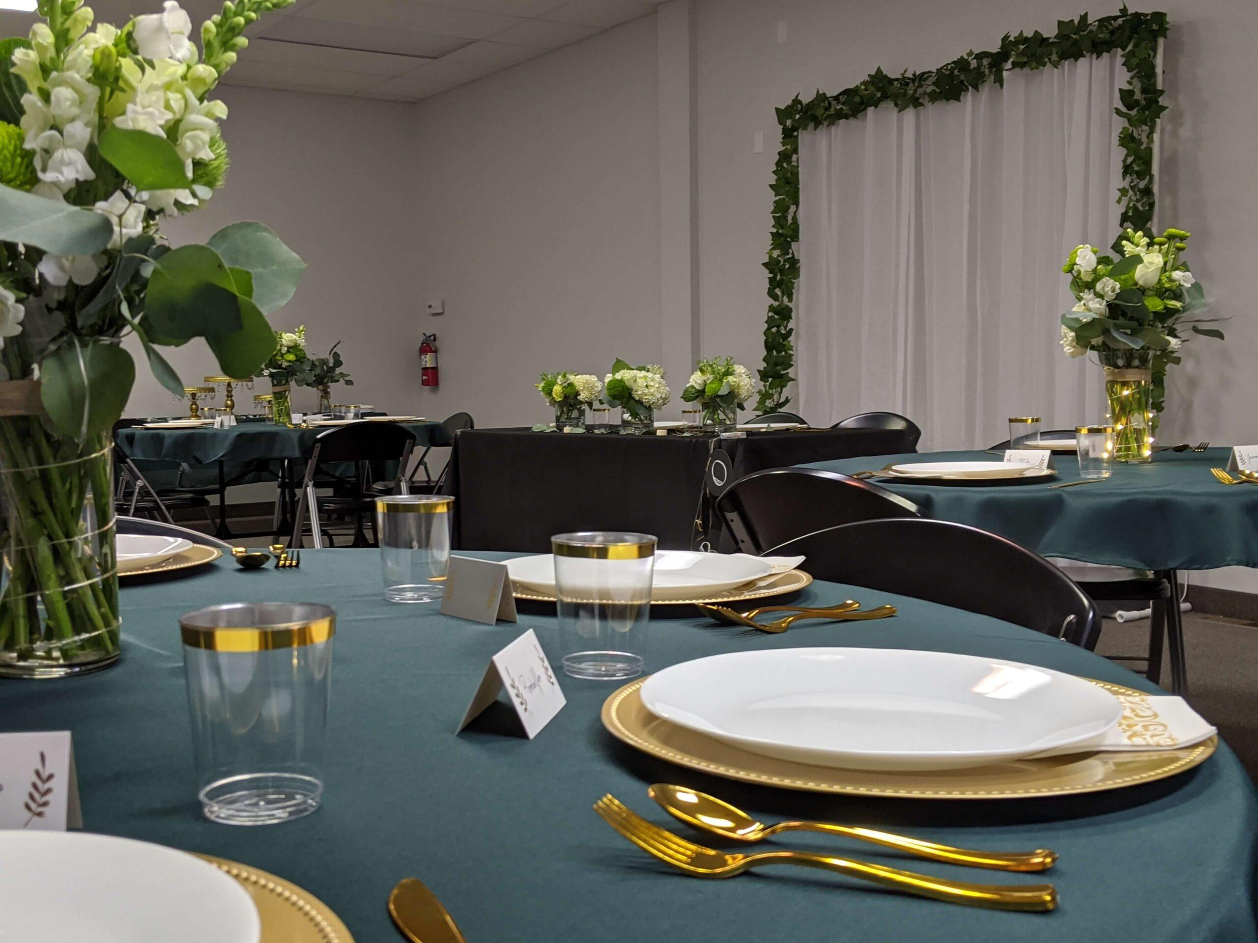 Event Center Wedding Reception Setup in Nampa, Idaho